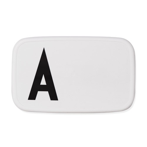 LUNCH BOX WEISS - Buchstabe A - M